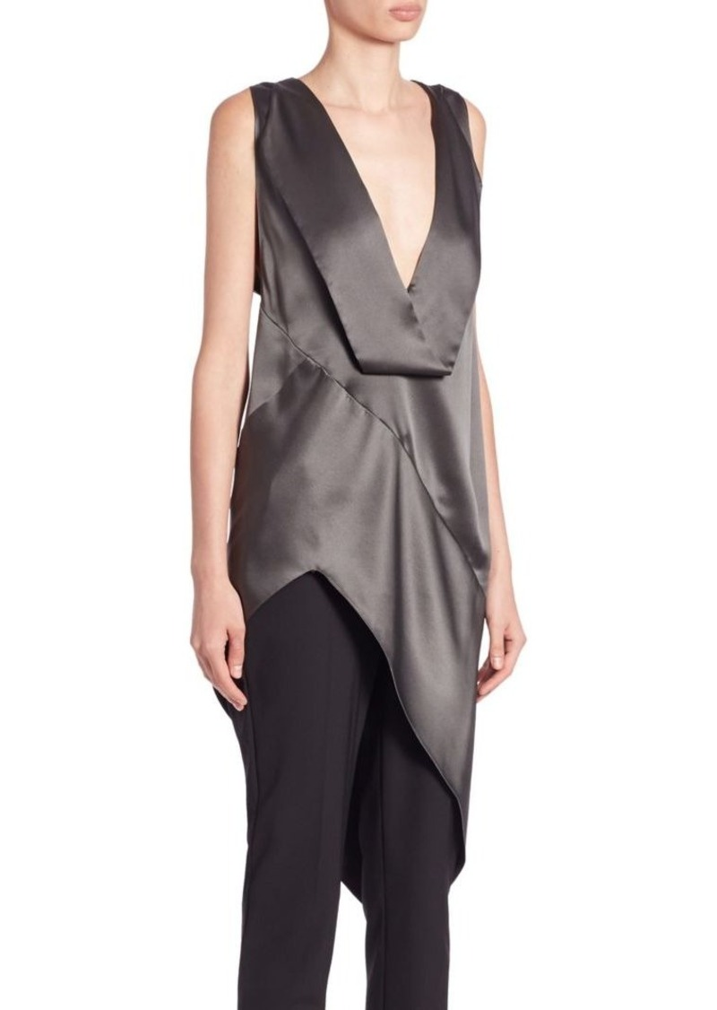 Narciso Rodriguez Long Asymmetrical Silk Blouse