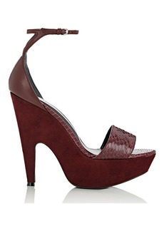 Narciso Rodriguez Women's Mia Platform Sandals-BURGUNDY Size 7