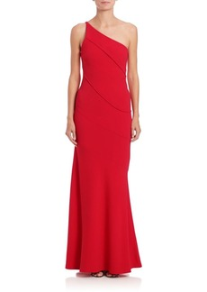 Narciso Rodriguez One-Shoulder Crepe Gown