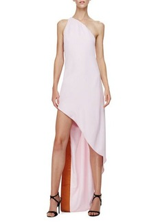 Narciso Rodriguez One-Shoulder Dress W/Asymmetric Hem