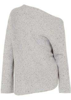 Narciso Rodriguez One-shoulder wool and cashmere-blend sweater