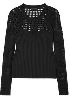 Narciso Rodriguez Paneled open-knit sweater
