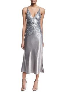 Narciso Rodriguez Pierced Sleeveless V-Neck Midi Dress
