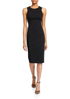 Narciso Rodriguez Ponte Seamed Top Dress