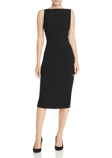 Narciso Rodriguez Ruched Crepe Midi Dress