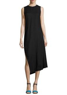 Narciso Rodriguez Sleeveless Bias-Cut Linen Midi Dress