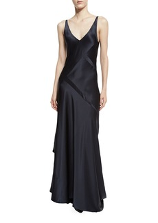 Narciso Rodriguez Sleeveless Bias-Cut Silk Gown