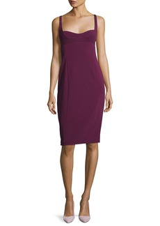 Narciso Rodriguez Sleeveless Bustier Sheath Dress