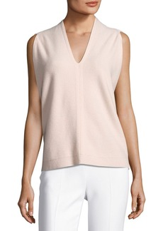 Narciso Rodriguez Sleeveless Cocoon-Wrap Wool-Cashmere Sweater