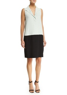 Narciso Rodriguez Sleeveless Colorblock Shift Dress