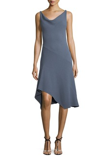 Narciso Rodriguez Sleeveless Cowl-Neck Seamed Handkerchief Dress
