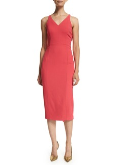 Narciso Rodriguez Sleeveless Crisscross Back Sheath Dress