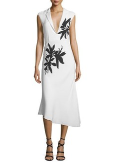 Narciso Rodriguez Sleeveless Floral-Print Midi Dress