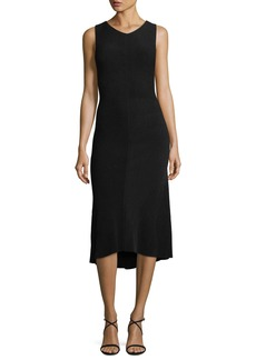 Narciso Rodriguez Sleeveless Knit Godet Dress