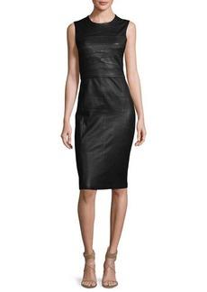 Narciso Rodriguez Sleeveless Leather Sheath Dress