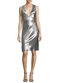 Narciso Rodriguez Sleeveless Low-Armhole Shift Dress