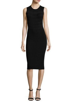Narciso Rodriguez Sleeveless Round-Neck Ribbed Dress