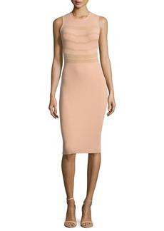 Narciso Rodriguez Sleeveless Round-Neck Ribbed Dress
