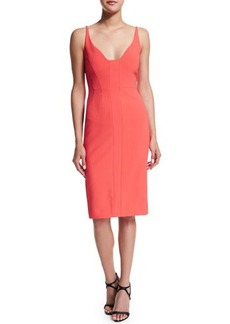 Narciso Rodriguez Sleeveless Scoop-Neck Sheath Dress
