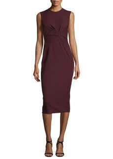 Narciso Rodriguez Sleeveless Twist-Front Sheath Dress