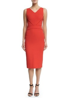 Narciso Rodriguez Sleeveless V-Neck Sheath Dress
