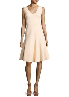 Narciso Rodriguez Sleeveless V-Neck Swing Dress