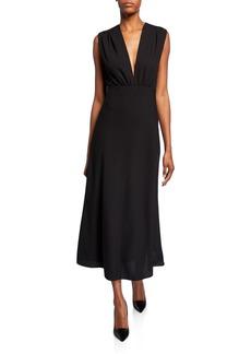 Narciso Rodriguez Sleeveless Wool Crepe Dress