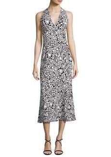 Narciso Rodriguez Tattoo-Print Sleeveless Midi Dress