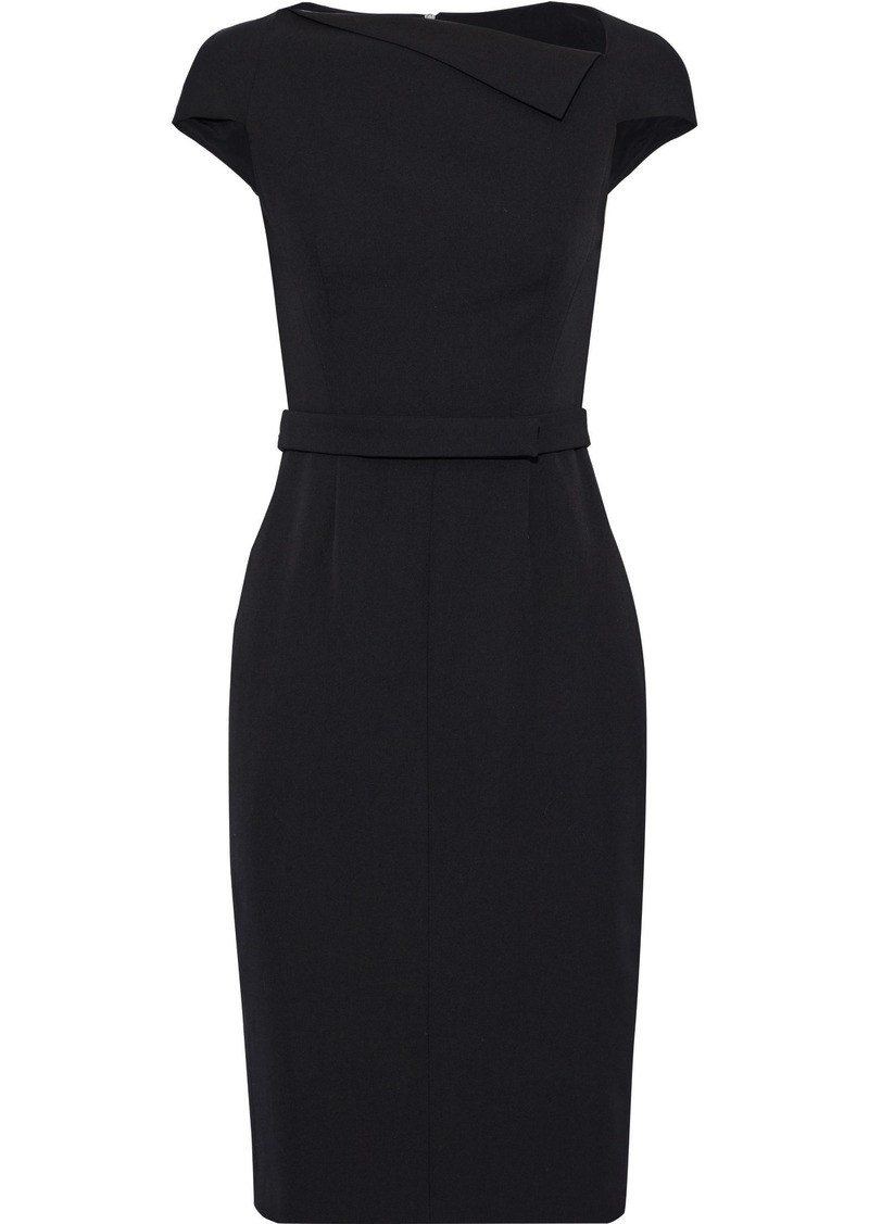Narciso Rodriguez Woman Belted Wool-twill Dress Black