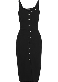Narciso Rodriguez Woman Button-embellished Wool-crepe Dress Black