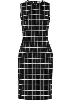 Narciso Rodriguez Woman Checked Cotton-blend Jacquard Dress Black