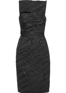 Narciso Rodriguez Woman Cutout Metallic Silk-blend Cloqué Dress Black