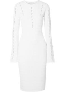 Narciso Rodriguez Woman Cutout Ribbed-knit Dress White