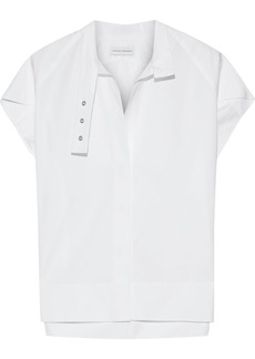 Narciso Rodriguez Woman Eyelet-embellished Cotton-poplin Top White