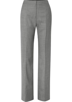 Narciso Rodriguez Woman Mélange Wool Straight-leg Pants Gray