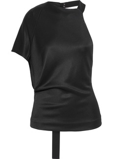 Narciso Rodriguez Woman One-shoulder Jersey Top Black