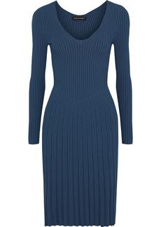 Narciso Rodriguez Woman Ribbed-knit Dress Storm Blue