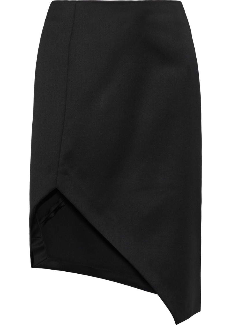 Narciso Rodriguez Woman Split-front Wool-cady Pencil Skirt Black