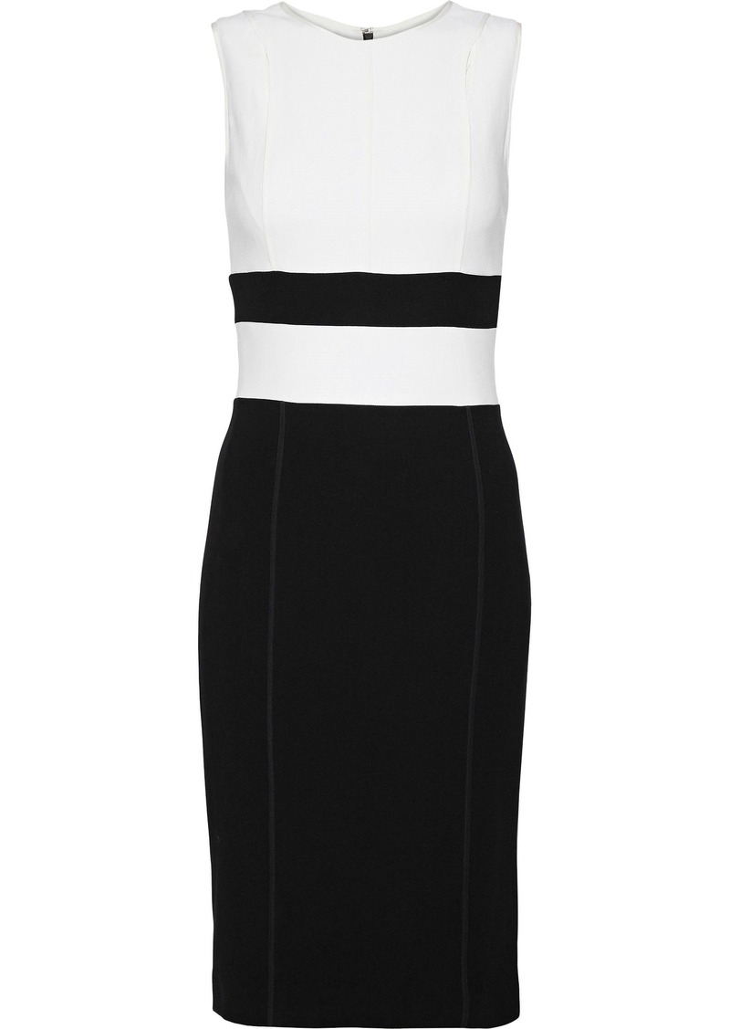 Narciso Rodriguez Woman Two-tone Wool-blend Dress White