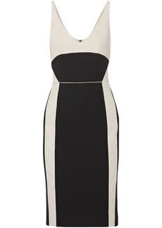 Narciso Rodriguez Woman Two-tone Wool-twill Dress Black