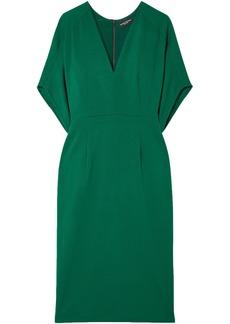 Narciso Rodriguez Woman Wool-crepe Dress Emerald
