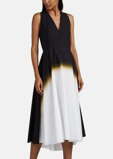 Narciso Rodriguez Women's Airbrush-Effect Cotton Poplin Dress