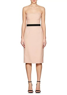 Narciso Rodriguez Women's Belted Virgin Wool Strapless Sheath Dress