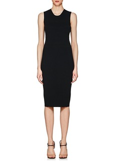 Narciso Rodriguez Women's Brushed-Stripe Rib-Knit Dress