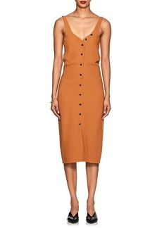 Narciso Rodriguez Women's Button-Front Virgin Wool Midi-Dress