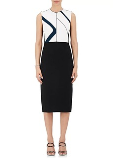 Narciso Rodriguez Women's Colorblocked Crepe Sheath Dress