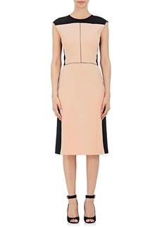 Narciso Rodriguez Women's Colorblocked Wool Twill Sheath Dress