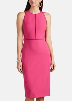 Narciso Rodriguez Women's Contrast-Seam Stretch-Crepe Sheath Dress