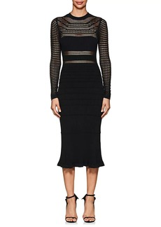 Narciso Rodriguez Women's Crochet Fitted Midi-Dress
