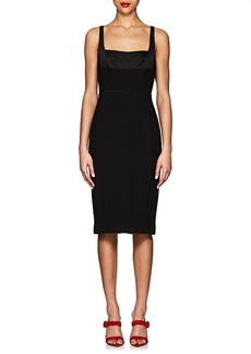 Narciso Rodriguez Women's Cutout-Back Crepe Cocktail Dress